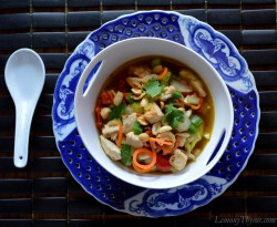 Kung Pao Chicken Soup made healthy at home
