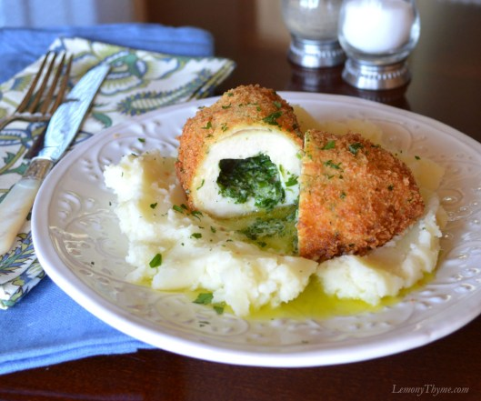 Chicken Kiev with Fresh Herb & Garlic Butter | LemonyThyme.com