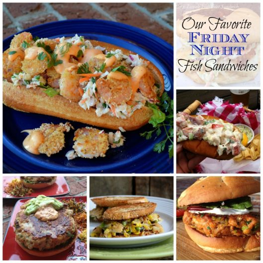 Fish Sandwich Collage   LemonyThyme.com