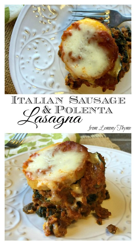 Italian Sausage & Polenta Lasagna | Lemony Thyme | #weightwatchers #healthychoices