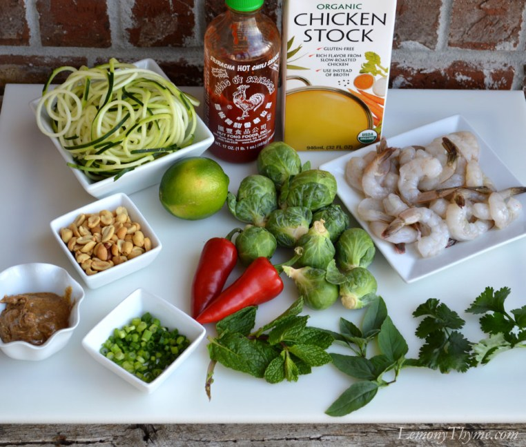 Thai Spicy Shrimp Buddha Bowl Ingredients