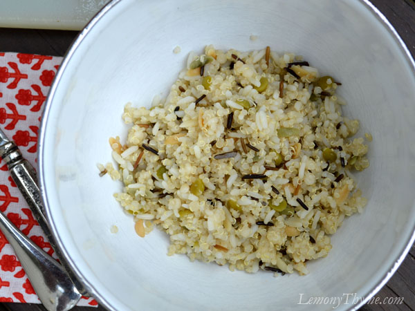 Grain Medley with wild rice, split peas, orzo, couscous & quinoa