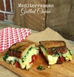 Mediterranean Grilled Cheese | LemonyThyme.com | #GrilledCheese