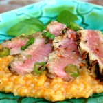 Seared Ahi Tuna on Thai Risotto8