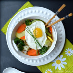 Steamed Veggie Ramen Broth Bowl with Fried Egg4