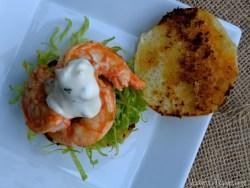 Buffalo Shrimp Slider with Cool Ranch Sauce | LemonyThyme.com2