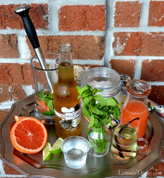 Red Grapefruit Mojito with Vanilla Simple Syrup ingredients