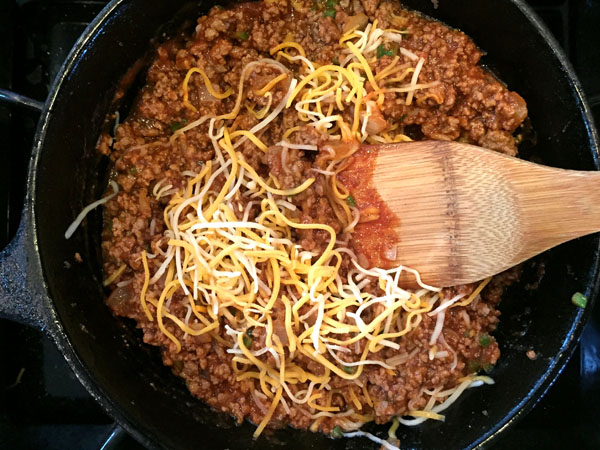 Cheesy Beef Enchilada Dip Step 4