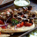 Pork Souvlaki with Tzatziki Sauce