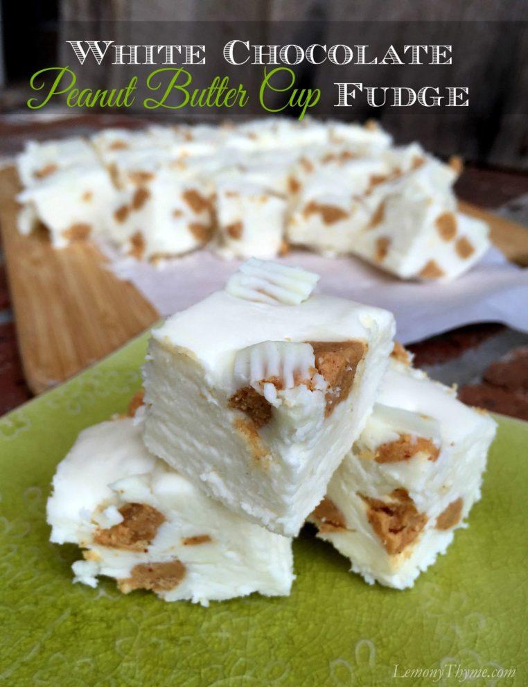 White Chocolate Reeses Fudge