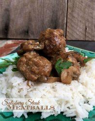Salisbury Steak Meatballs   LemonyThyme.com