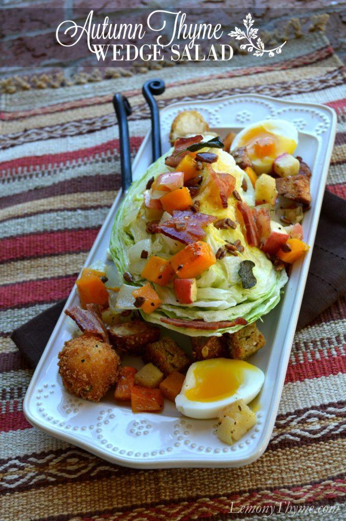 Autumn Thyme Wedge Salad   LemonyThyme.com