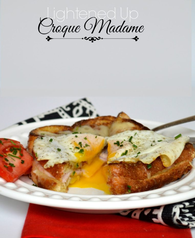 Lightened Up Croque Madame | LemonyThyme.com