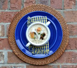 Roasted Garlic Bread Soup   LemonyThyme.com1