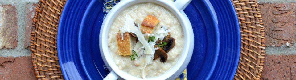 Roasted Garlic Bread Soup | LemonyThyme.com1