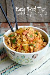 Easy Pad Thai with Spaghetti Squash   LemonyThyme.com