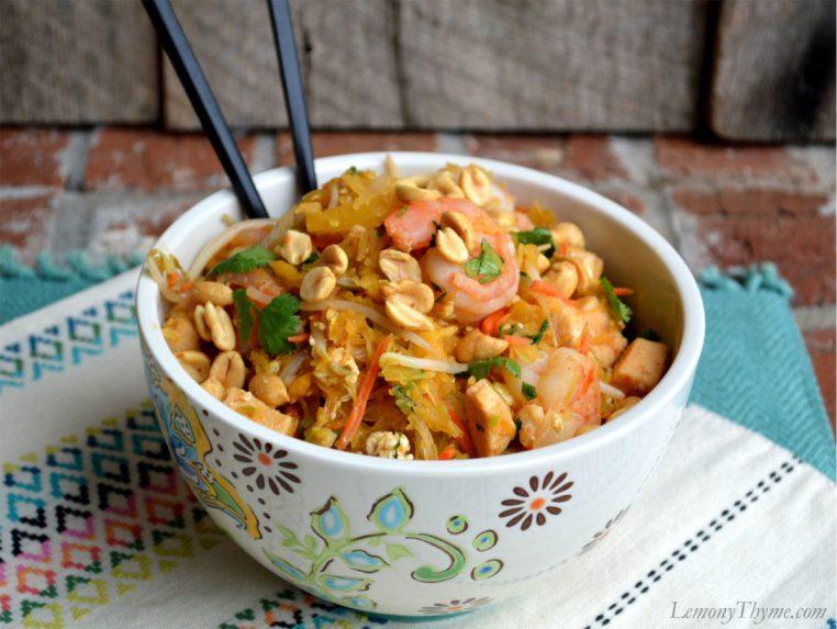 Easy Pad Thai with Spaghetti Squash4