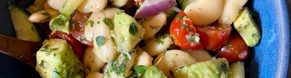 Butter Bean Salad with Lemony Thyme Vinaigrette