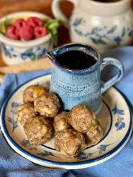 French toast breakfast meatballs are savory and juicy with hints of maple and cinnamon.