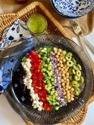 This colorful Mediterranean Chopped Salad is so good you'll want to eat it everyday!