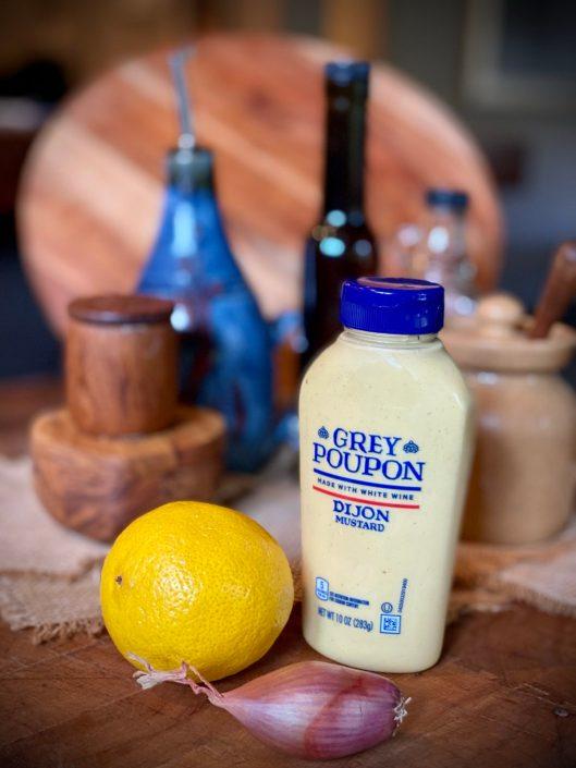Super Simple White Balsamic Vinaigrette optional ingredients including lemon, shallot, and Dijon mustard