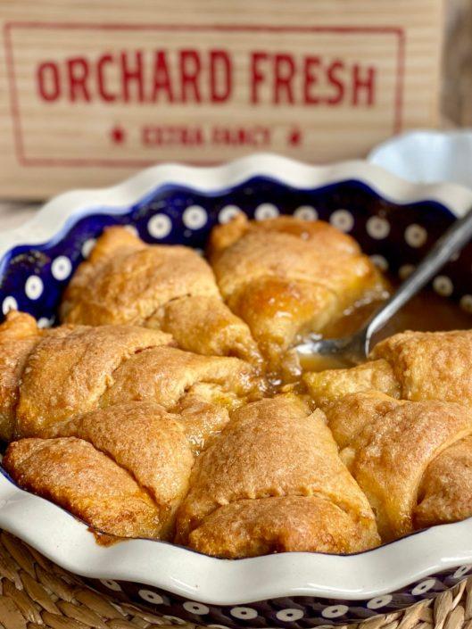 Easy Salted Caramel Apple Dumplings