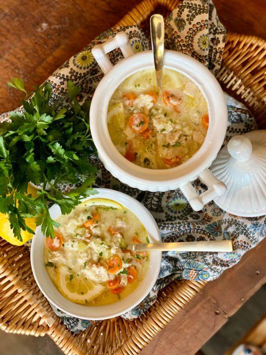 Avgolemono Greek Chicken & Lemon Soup