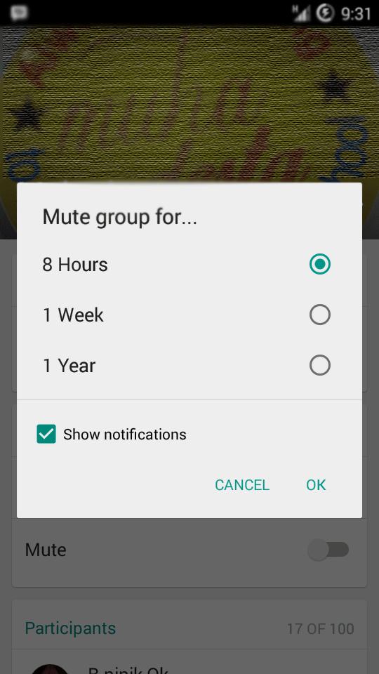 Cara menonaktifkan notifikasi Group whatsApp