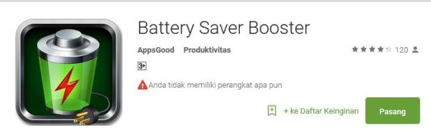 Battery saver booster