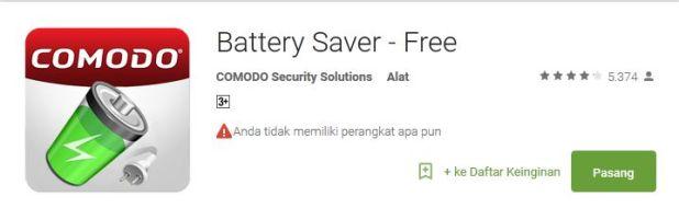 Comodo battery saver