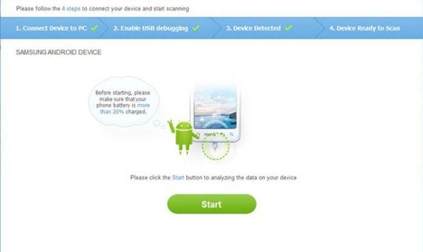recovery-android mulai mengembalikan data yang terhapus