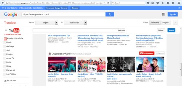 Mengakses website yang terblokir via Google Translate