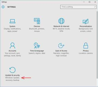 windows 10 update-and-security