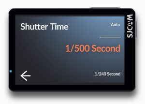 SJ8 Pro Shutter Time
