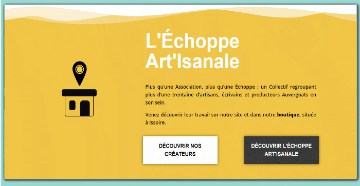 Site web associatif : l'Echoppe Art'Isanale