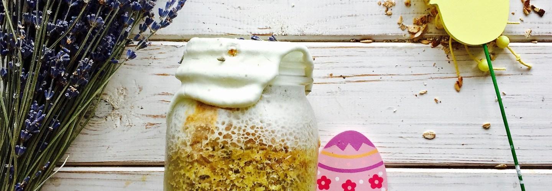 пасхальный кулич с лавандой