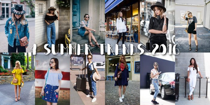 Blogger inspired: 4 Sommertrends