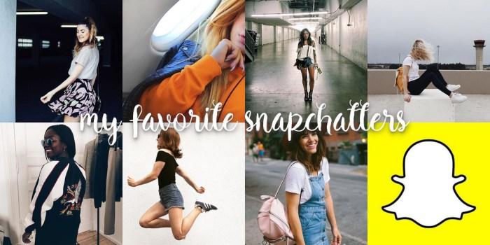 Meine liebsten Snapchatter!