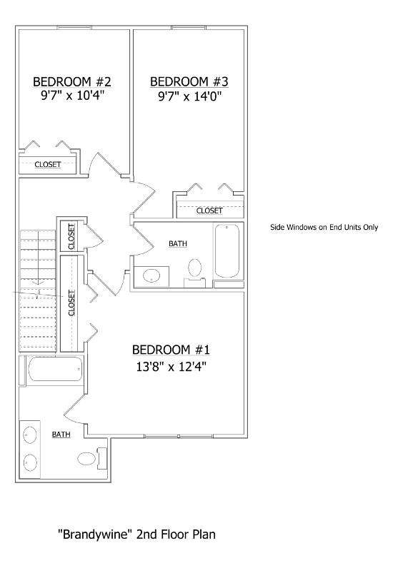 Floor Plan The Brandywine Cambria Village Lenape Builders
