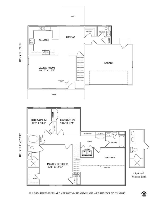 Floor plan the kendall mearfield lenape builders for Share builders plan