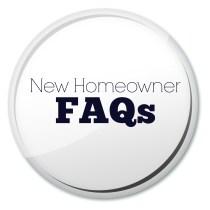 New homeowner FAQ button