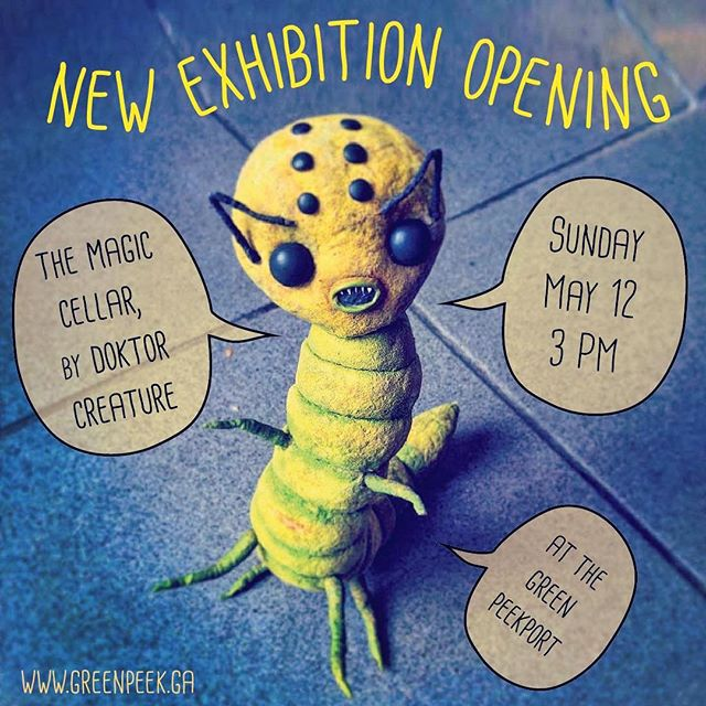 "Our tiny exhibition space is welcoming a new artist:  @doktorcreature with ""The Magic Cellar"". Come by if you are in Berlin this Sunday."