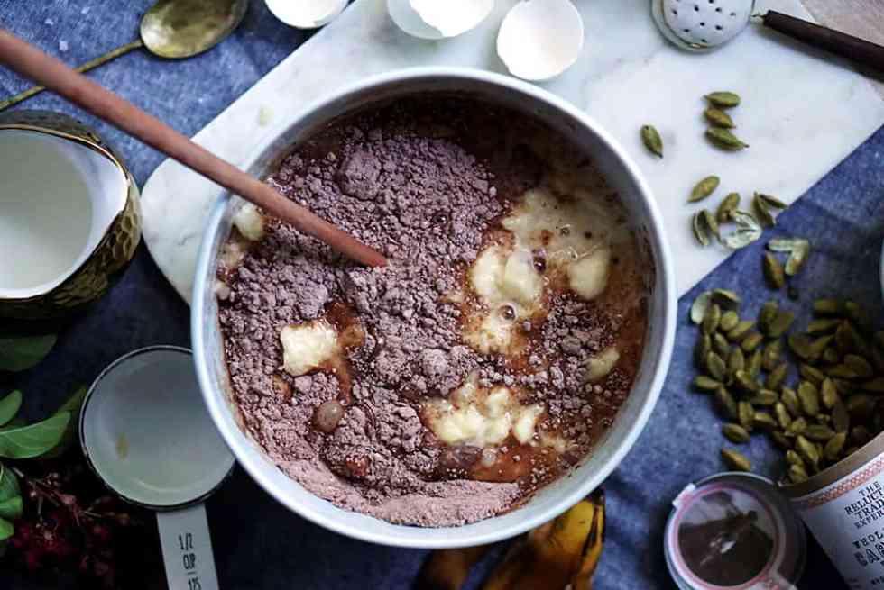 chocolate waffles_lenaskitchenblog_ingredients_dry_wet