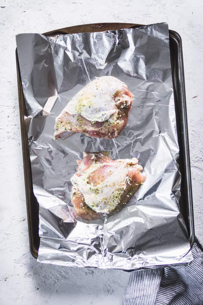 One sheet pan baked chicken breast