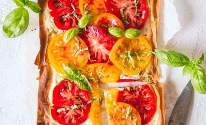 FLAKY TOMATO AND HERBED RICOTTA TART by lenaskitchenblog