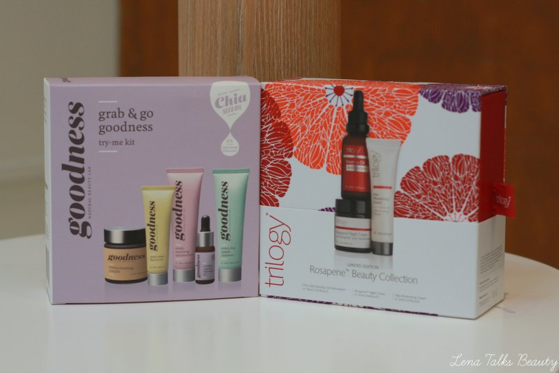 Christmas gift sets from Trilogy and Goodness