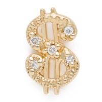 diamond dollar sign earring - lenawald