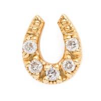 diamond horseshoe earring - lenawald