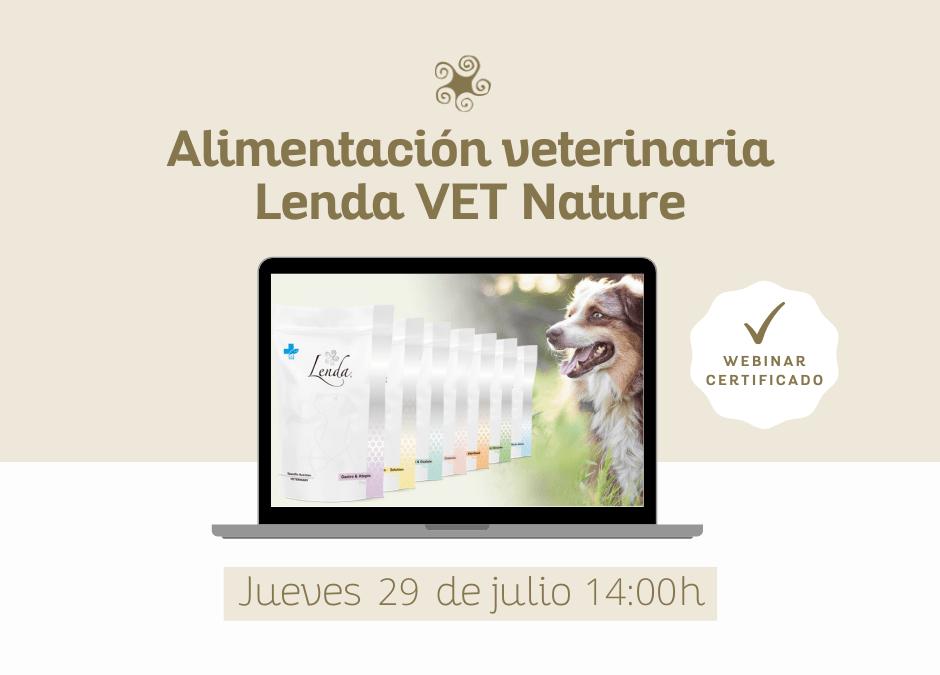 Webinar alimentación veterinaria: Lenda VET Nature