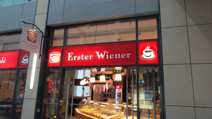 "I didn't cheat when taking this picture. Even aroud the corner all you can see is ""Erster Wiener"". I somehow doubt it is, though."